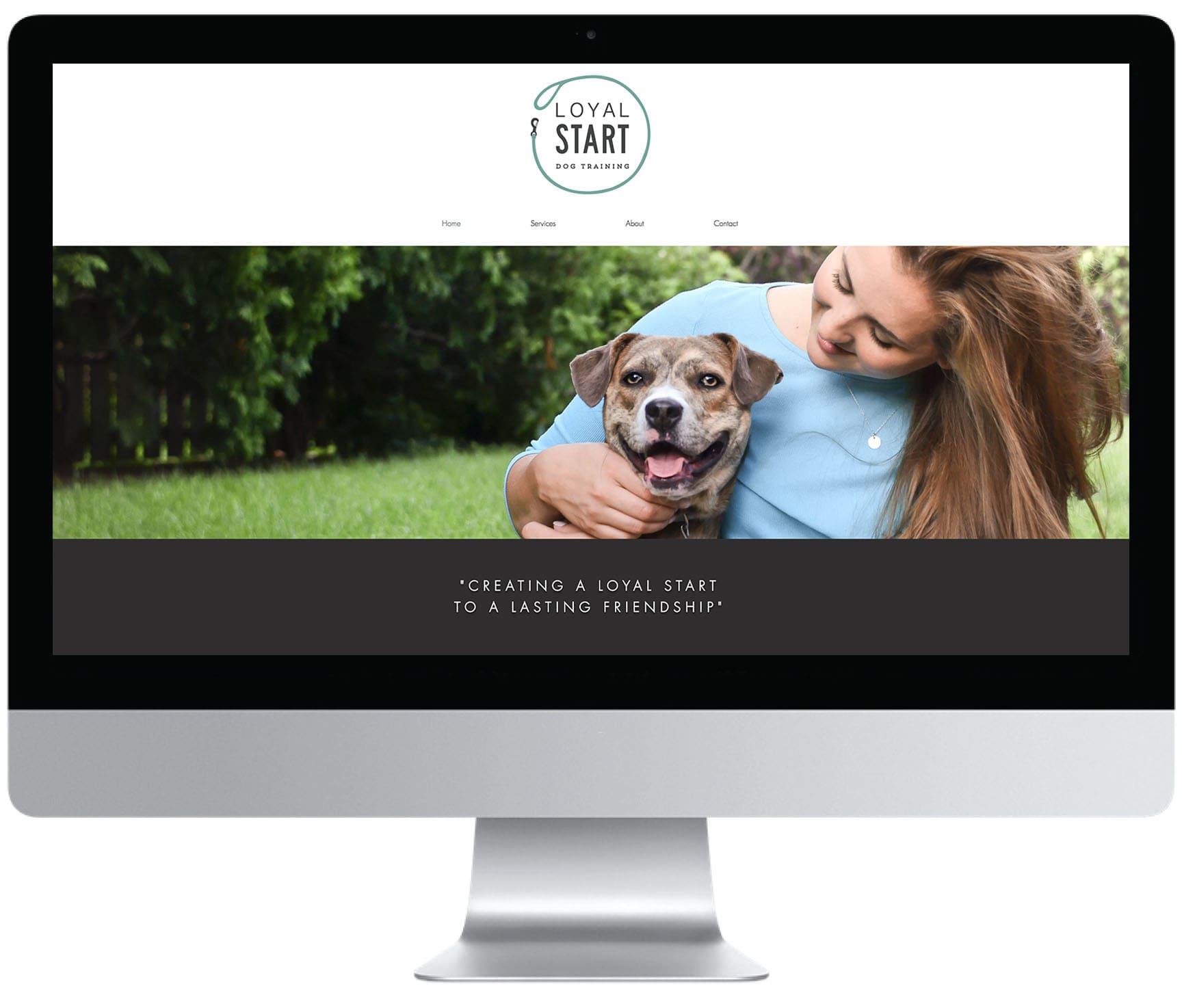 Beloved Pine Branding Website for Loyal Start Dog Training